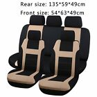 Car Seat Covers Black/Blue/Red/Gray Polyester Cloth Front&Rear Bench Full Set MG