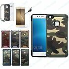 Camouflage Schutz-Hülle Army Military Case Bundeswehr Cover + Panzerglas Huawei