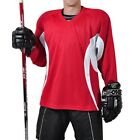 Firstar Arena 2 Color Hockey Jersey   Red & White    with Name & Number