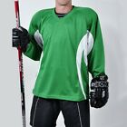 Firstar Arena 2 Color Hockey Jersey   Kelly Green & White   with Name & Number