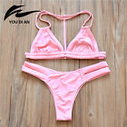 2017 Sexy Women Bikini Summer Swimwear Bathing Suit Triangle Push Up Beachwear