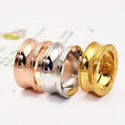 14K Rose Gold Stainless Steel Smooth Arc Fashion Jewelry Mens Womens Lovers Ring