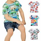 Baby Boys Girls Car Printing Short Sleeve T-Shirt Cotton Tops Summer Clothing