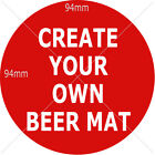 Personalised Beer Mats with images, messages, Personalised DOUBLE Side Mats -E23
