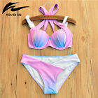 Sexy Women Bikini Set Bandage Push-up Padded Bra Swimsuit Bathing Suit Swimwear