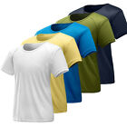 Mens Quick Drying T Shirts Summer Breathable Anti-sweat Thin Short Sleeve Tops