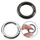 6x Portable Mini Circle Carabiner Spring Clip Hook Keychain Outdoor Fashion 25mm
