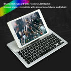 Ultra-slim Wireless Bluetooth 3.0 Keyboard with Colorful LED Touchpad Holder IOS