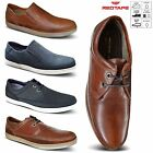 Mens Red Tape Leather Slip On Casual Deck Mocassin Loafer Driving Shoe Size 6-12