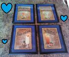 Tequila Pictures Mixed Drinks Bar Lounge Wall Hangings Tropical Recipes 4pc Set