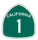 California State Route 1 Sticker Decal R987 Highway Sign Road Sign