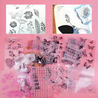 Feather Clear Stamp Seal Sheet Cling Album Diary Scrapbook Butterfly Flower Bird