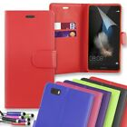 Leather Wallet Flip Phone Case Cover for Huawei P10 + Mini Stylus + Screen Guard