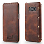 Genuine Leather Retro Flip Wallet Flip Skin Case For Samsung Galaxy S8 / S8 Plus