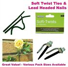 Soft Twist Garden Plant Ties, Lead Headed Nails, Bamboo Wigwam Support, Free P&P