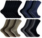 6 Pairs Mens Thick Chunky Winter Warm Thermal Knit Wool Boot Socks for Walking
