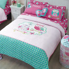 Girls Twin and Full Owls Comforter Set with curtains