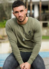 The Gym King Mens Slim Fit Long Sleeve Undergarment Embroidered GK Logo T-Shirt