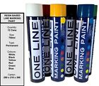 12 Cans of One Line Permanent Line Marking Paint 750ml | Resin Based Spray Paint