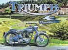 TRIUMPH THUNDERBIRD BRITISH MOTORBIKE METAL SIGN PLAQUE VINTAGE NOSTALGIC 233 $7.73 USD on eBay
