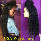 Natural Look Long Curly Lace Front Synthetic Wig with Baby Hair for Black Women