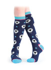 Shires Everyday Knee High Socks - Navy Sheep