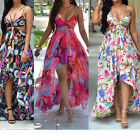 US SHIPPING Women's Summer Long Maxi Evening Party Dress Chiffon Beach Dresses