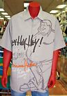 Men's Platinum Fubu Hey Hey Hey! Fat Albert Button Down Shirt