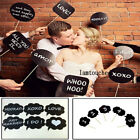 10PCS Photo Booth Props Wedding Birthday Party Plain Black Chalkboard On A Stick