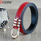 Drizzte 51'' 59'' Plus Size Long PU Leather Womens Belt Black Brown Red
