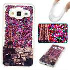 YB GLITTER LIQUID FLOW SAND Soft TPU Ultra Gel Back Case Cover Skin Paris Tower