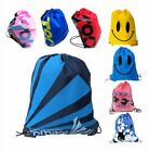 KIDs BAG DRAWSTRING BACKPACK WATERPROOF GYM PE SWIM SCHOOL DANCE SPORT BOYS GIRL
