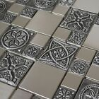 Stainless Steel Metal Mosaic Tile For Kitchen Backsplash Fireplace & Wall Decor