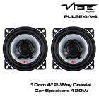 "Vibe PULSE 4-V4 - 10cm 4"" 2-Way Coaxial Car Speakers 120W Dash Speakers"