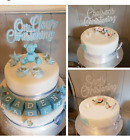 Sparkling Glitter Cake Topper PERSONALISED Varied Size & Colour Religion Themed