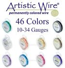 Artistic Wire 46 COLORS Tarnish Resistant Silver Plated Round Copper Wires