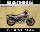BENELLI Sei 900 1984 MOTORCYCLE METAL TIN SIGN POSTER WALL PLAQUE