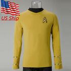 Star Trek Captain Kirk Shirt Costume TOS The Original Series Yellow Uniform New on eBay