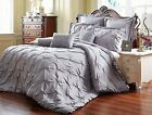Luxurious 8 Piece Reversible Pinch Pleat Fade Resistant, Wrinkle Free Comforter. image
