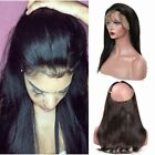 8A Pre Plucked 360 Lace Frontal Closure Brazilian Virgin Hair Straight Lace Band