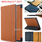 """Genuine Rock Slim Smart Flip Leather PU+PC Stand Cover Case Fr New ipad 9.7""""2017"""