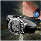 Men's watch fashion leather band teen/adult sports wrist watch mechanical