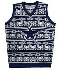 NWT NFL Dallas Cowboys  MENS UGLY CHRISTMAS SWEATER VEST Free Shipping