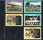Topps Footballers (pale blue back) unused team checklists - choose your number