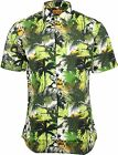 Run & Fly Mens Kitsch Jurassic Jungle Dinosaur Short Sleeve Shirt
