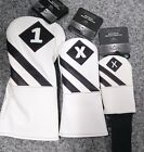 Callaway Vintage Headcovers 2017 (White/Black) Driver, Fairway, Hybrid