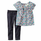 Carters 12 Months Outfit 2-Piece Floral Top & Jegging Set NWT Baby Girl Clothes