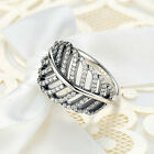 Optional Women 925 Silver Princess Wedding Band Zircon Crown Ring Jewelry