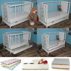 TEDDY BEARS BABY COT WITH BOTTOM DRAWER + HIGH QUALITY MATTRESS 5 OPTIONS BRAND