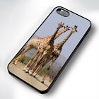 AFRICAN GIRAFFES RUBBER PHONE CASE COVER FITS IPHONE 4 5 6 7 (#BR)